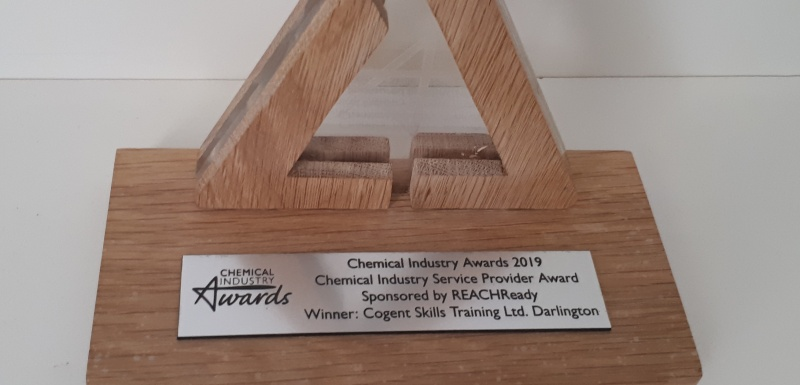 We won! Chemical Industry Service Provider of the year!